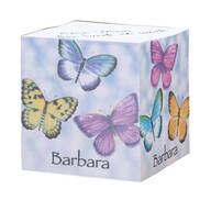 Personalized Butterflies Self-Stick Note Cube