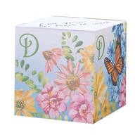 Personalized Floral Butterfly Self-Stick Note Cube
