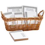 Personalized Polka Dots Business Basketful of Notepads