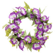 "16"" Purple Petunia Wreath by OakRidge™ Outdoor"