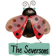 Personalized Ladybug Door Hanger by Maple Lane Creations