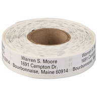 Large Print Self-Stick Address Labels, Roll of 500