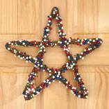 Grapevine Patriotic Berry Star Wreath