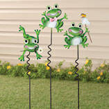 Frog Lawn Stakes by Maple Lane Creations - Set of 3