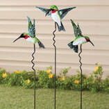 Hummingbird Lawn Stakes by Maple Lane Creations - Set of 3