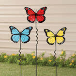 Butterfly Lawn Stakes by Maple Lane Creations - Set of 3