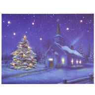 Doug Knutson Lighted Church Canvas by Northwoods™