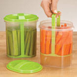 Two-Section Veggie Holder, Set of 2
