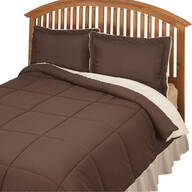 Kathy Ireland® Sherpa Lined Alternative Down Comforter with Shams