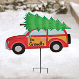 Personalized Woody Wagon Lawn Stake by Maple Lane Creations™
