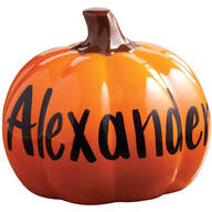 Personalized Ceramic Pumpkin