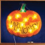 Happy Halloween Jack-o'-Lantern Shimmer Light by Northwoods Illuminations™