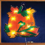 Pumpkin with Leaves Shimmer Light by Northwoods Illuminations™