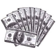 $100 Bill Microfiber Cloths, Set of 10