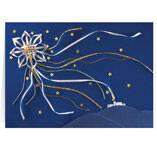 Satin Star of Bethlehem Personalized Christmas Card - Set of 20