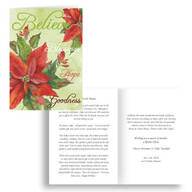 The Legend of the Poinsettia Personalized Christmas Card - Set of 20