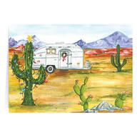 Desert Snowbirds Happy Holidays Personalized Christmas Card - Set of 20