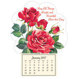 """Roses in Bloom"" Mini Magnetic Calendar"
