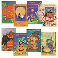 Assorted Halloween Cards, Set of 24