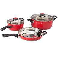 5-pc. Red Stainless Cookware Set by Home-Style Kitchen™
