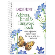 Large Print Address, Email and Password Book