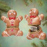 Gingerbread Man Trinket Box Ornament