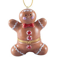 Gingerbread Man Trinket Box Ornament
