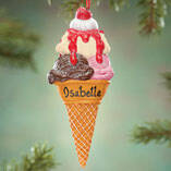 Personalized Ice Cream Cone Ornament