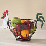 Rooster Fruit Basket
