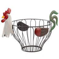 Rooster Fruit Basket