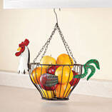 Hanging Rooster Fruit Basket