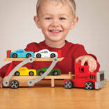 Personalized Wooden Car Carrier Set