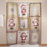 Americana Christmas Shower Curtain