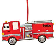 Personalized Fire Truck Ornament