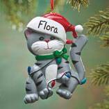 Personalized Cat in Lights Ornament