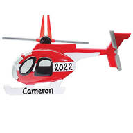 Personalized Helicopter Ornament