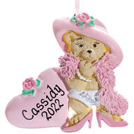 Personalized Dress Up Bear Ornament