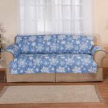 Microfiber Snowflake Sofa Cover