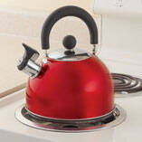 Red Whistling Tea Kettle by Home-Style Kitchen™