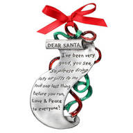 Christmas List Keepsake Pewter Ornament
