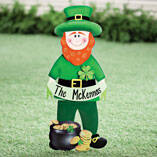 Personalized Leprechaun Lawn Stake by Maple Lane Creations™
