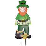 Personalized Leprechaun Lawn Stake by Maple Lane Creations™