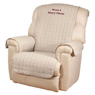 Personalized Beige Recliner Cover by OakRidge™ Comforts