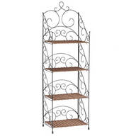 Four-Tier Wicker & Metal Shelves by OakRidge™ Accents