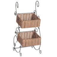 Wicker & Metal Storage Baskets by OakRidge™ Accents
