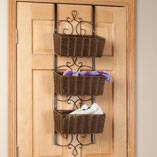 Over-the-Door Wicker & Metal Baskets by OakRidge™ Accents