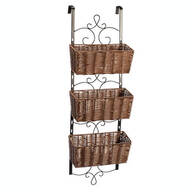 Over-the-Door Wicker & Metal Baskets by OakRidge™ Accents