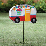 Vintage Camper Yard Stake by Maple Lane Creations™