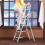 Folding Four-Step Ladder with Handrails