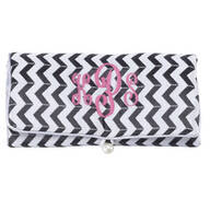 Personalized Chevron Travel Jewelry Roll